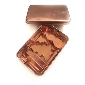 Vintage Copper cookie cutter tin set
